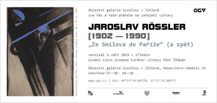 """Jaroslav Rössler """"Ze Smilova do Paříže"""" (a zpět)"""