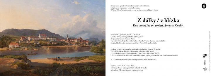 Z dálky / z blízka. Krajinomalba 19. století. Severní Čechy